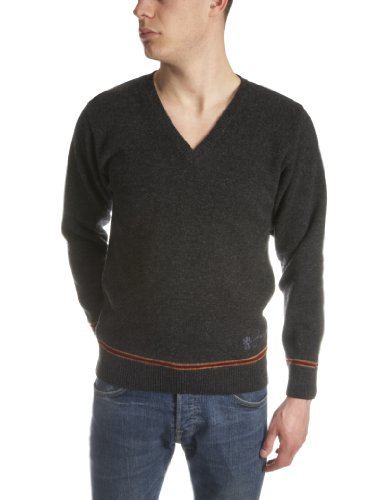 Hogwarts Gryffindor Mens Jumper Charcoal/Red Large