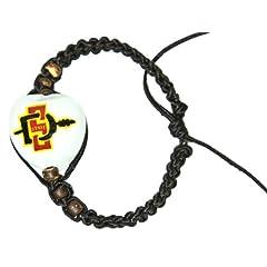 Buy NCAA San Diego State Aztecs Go Nuts Kukui Nut Macrame Bracelet by Style Pasifika