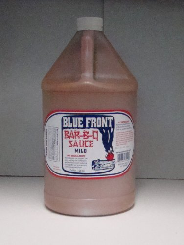 Blue Front(Mild) BBQ Barbecue Sauce 128Oz. 1 Gallon Plastic Jug