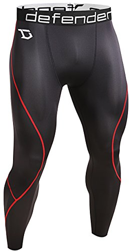 Defender Men's Compression Tights Pants Underlayer Skin Sports Hockey BR_L (Winter Sports Pants compare prices)