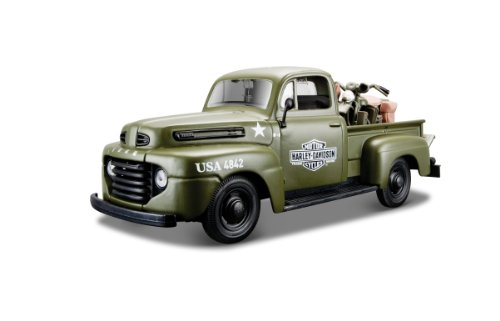 Maisto H-D 1942 Wla Flathead And 1:24-Scale 1948 Ford F-1 Pickup Diecast Vehicles (1:24-Scale)