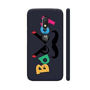 Colorpur Badboy On Black Designer Mobile Phone Case Back Cover For Motorola Moto G4 Play with hole for logo | Artist: Designer Chennai