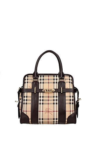 Borse a Mano Burberry Donna PVC Marrone e Chuck Burberry 3857533CHOCOLATE Marrone 12x26.5x29.5 cm
