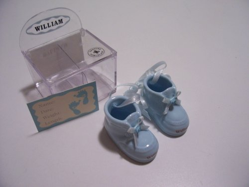 Personalized Porcelain Baby Booties - Boy - William front-1054842