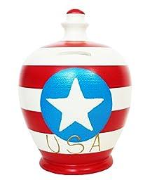 Terramundi Money Pot - World Flag Money Bank - USA S217