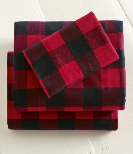 llbean queen flat buffalo plaid flannel sheet review - Flannel Sheets Queen