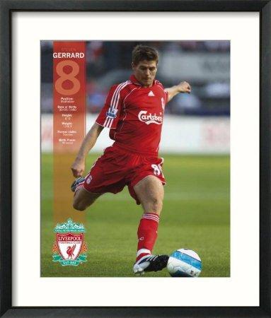 Liverpool- Steven Gerrard Framed Framed Art Poster Print, 23x27