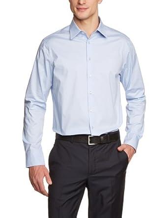 Schwarze Rose Herren Hemd/ Business 22900, Gr. 37 (S), Blau (hellblau 11)