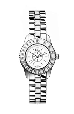 Christian Dior Women's CD112113M001 Christal Diamond White Dial Watch from Christian Dior