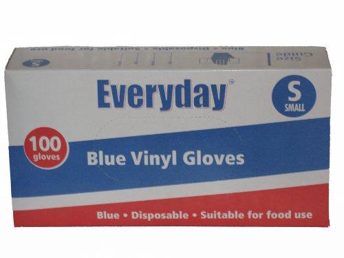 Everyday in vinile con polvere, misura S, colore: blu, confezione da 100