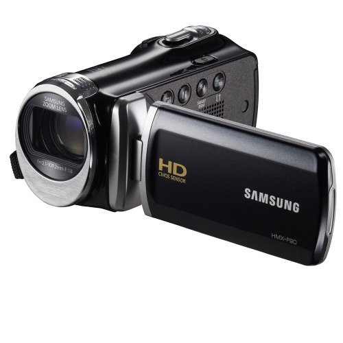 "Best Price! Samsung F90 Black Camcorder with 2.7"" LCD Screen and HD Video Recording"