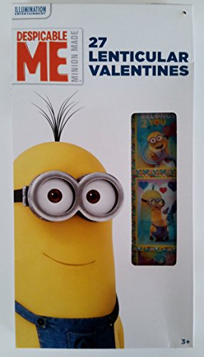 Despicable Me Minion 27 Lenticular Valentines - 1