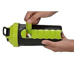 IShake Tabster Plastic Water Bottle (Black/Green)