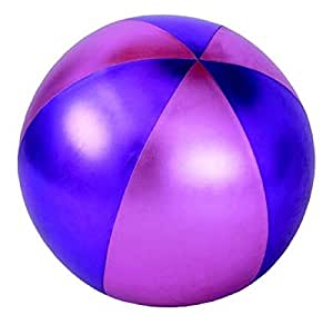 """22"""" Y'all Ball - Glossy Fabric - Ice Pink with Purple panels"""