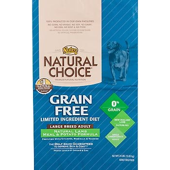 Natural Choice Grain Free Lamb Meal and Potato Formula Large Breed Adult Dog Food, 24-Pound