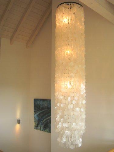 Muschellampe 200 cm hoch, Samoa XXL / Oceanlights Muschellampe
