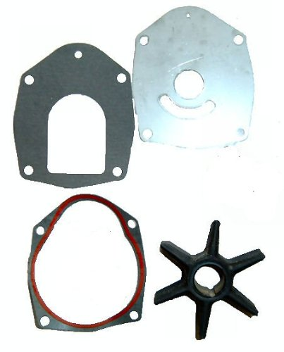Water Pump Impeller Service Kit for Mercruiser Alpha One Gen II Replaces 47-43026T2 with Wear Plate and Gaskets