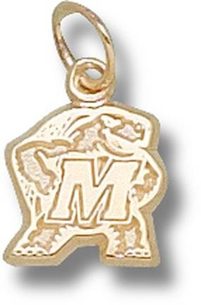 Maryland Terrapins Terrapin 3 8 Charm - 14KT Gold Jewelry by Logo Art