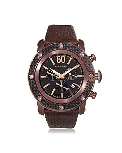 Glam Rock Men's GR33110 SoBe Chronograph Black/Brown Leather Watch