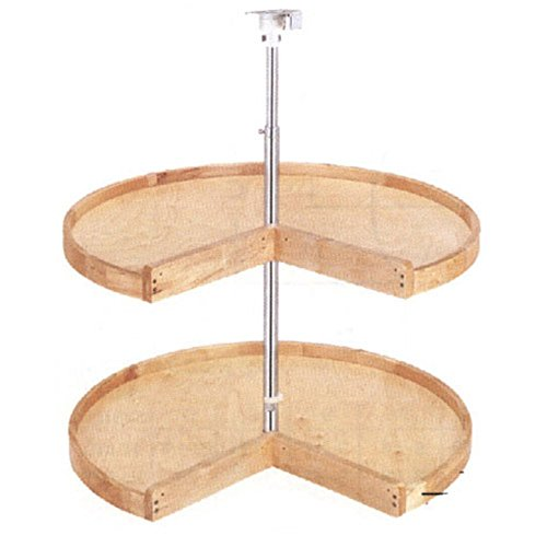 Rev-a-Shelf Rev-a-Shelf Wood Pie Cut 2 Shelf Lazy Susan, Wood, 28 in.