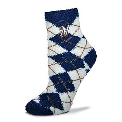 Milwaukee Brewers Argyle Sleep Soft Socks
