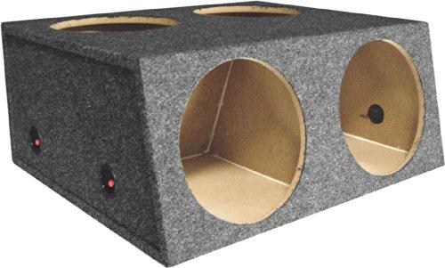 """Q Power L412D 12"""" 4 Hole Car Subwoofer Box W/ Divider"""