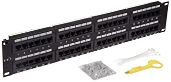 Morris Products 88046 Cat 5E High Density Patch Panels, 48 Port Patch Panel