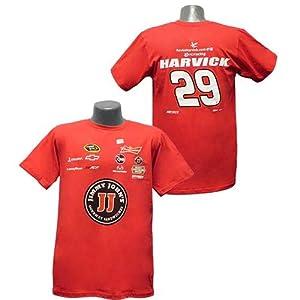 #29 Kevin Harvick Budweiser Mens Red Uniform Tee by Brickels