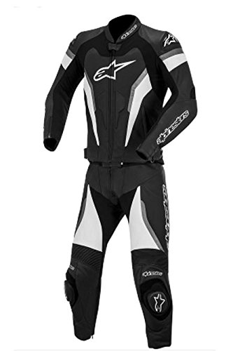 Alpinestars GP Pro Two-Piece Leather Suit, Gender: Mens/Unisex, Primary Color: Black, Size: 48, Apparel Material: Leather, Distinct Name: Black/Anthracite 3165014-140-48
