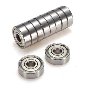 10x Kugellager Rillenkugellager 626-ZZ 6mm Industrie Top Qualitaet