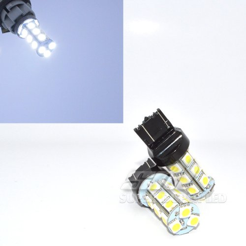 2Pc Pair 3156 3456 White (6000K Ultra White) Led Replacement Tower Light Bulbs 18 Smd 5050 12V