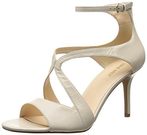 Nine West Women's Gerbera Leather Heeled Sandal, Off White, 8 M US
