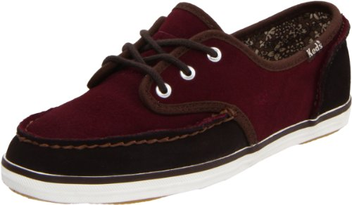 Keds Women's Skipper Block Lace-Up,Burgundy/Coffee,9.5 M US