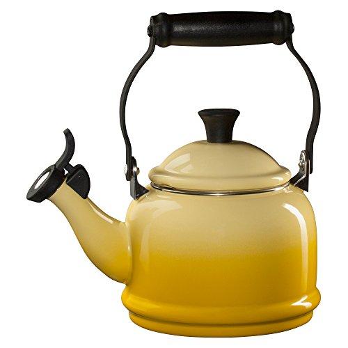 Le Creuset Sun Enamel On Steel 1.25 Quart Demi Tea Kettle (Le Creuset Black Whistling Kettle compare prices)