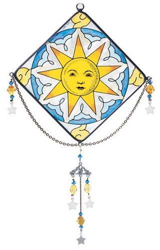 Joan Baker Designs JMD008 Suncatcher, 6 by 9-Inch, Celestial