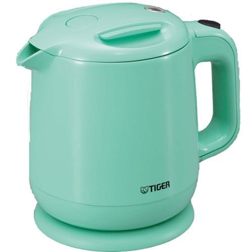 Tiger Electric Kettle 0.8 L (Fluorine Processing Containers) Aqua Blue Pce-A080-Aa By Tiger