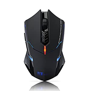 VicTop 2.4G Wireless 7-Button Gaming Mouse With Adjustable DPI (800, 1200, 1600, 2000, 2400), LED Backlight, Quiet Button Design, for Gamers, Office, Library, Home Use, for Notebook PC Laptop Computer