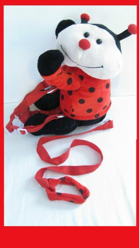 2 IN 1 BUDDY TODDLER LADY BUG KIDS SAFETY HARNESS LEASH BACKPACK TETHER - 1