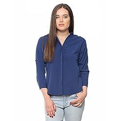 Vvoguish Denim Blue Polycrepe Shirt