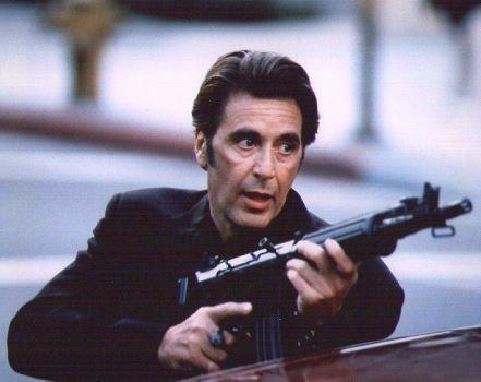 ブロマイド写真★アル・パチーノ『ヒート』/銃を構えて撃つショット