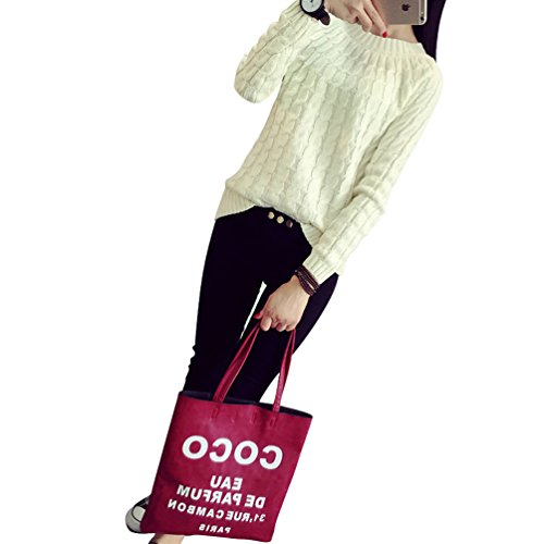YouPue Manica Lunga Maglieria Donna Pullover Manica Lunga Girocollo Allentata Knitwear Sweatshirt Tops Blouse Casuale Beige