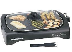 Black & Decker LGM70 2200-Watt Open Flat Grill Machine (Black)