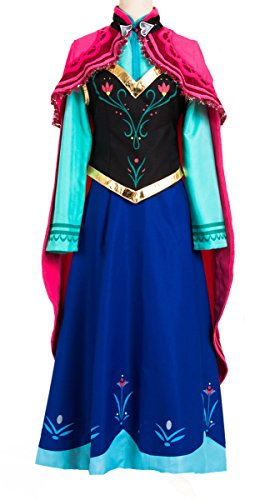 adult 6 piece princess anna dress costume halloween cosplay