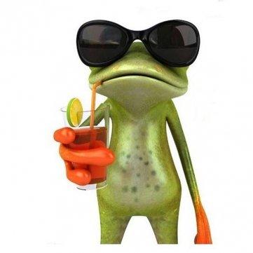 Man Friday Auto -Aufkleber Fenster Vinyl Aufkleber Auto Stick 3D Frosch-Aufkleber Grün