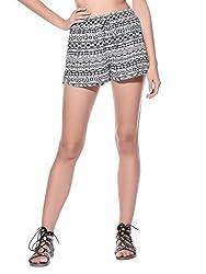 Wisstler Women's White Rayon Short Size - 28