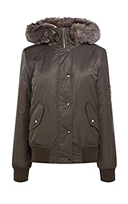 Khaki fashion parka