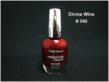 Sally Hansen Nailgrowth Miracle Nail Color 0.45 Fl Oz (340 Divine Wine) - Free Shipping On Orders $35 And Over