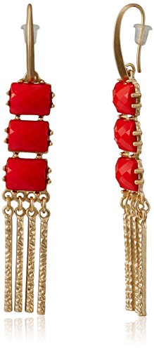 Red The Trunk Label Drop Earrings For Women (Red) (PTSUB-100450)