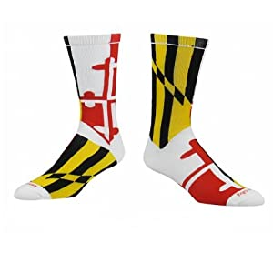 Buy TCK Maryland Flag Crew Socks by TCK Sports