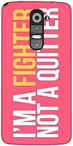 Snoogg Im A Fighter Designer Protective Back Case Cover For LG G2